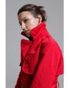 Женский тренч с капюшоном Палермо красный.