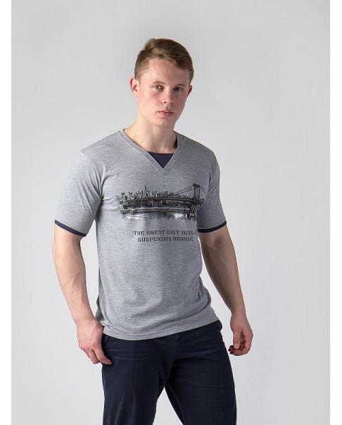 Футболка Gepard  7068.21 св.серый меланж